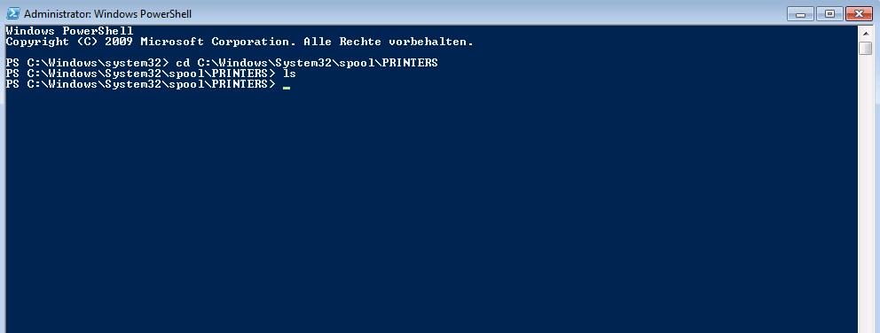 Windows-Spooler-Dateien löschen