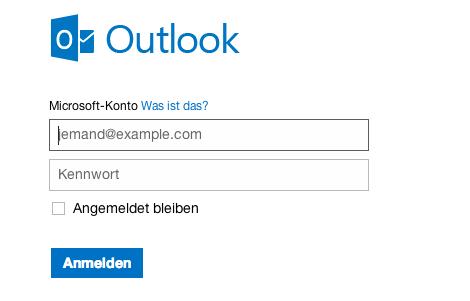 Outlook.com-Anmeldung