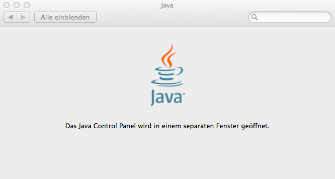 Java in OSX