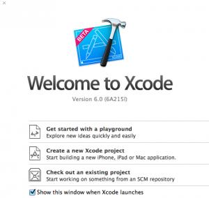 Xcode-6-Startfenster