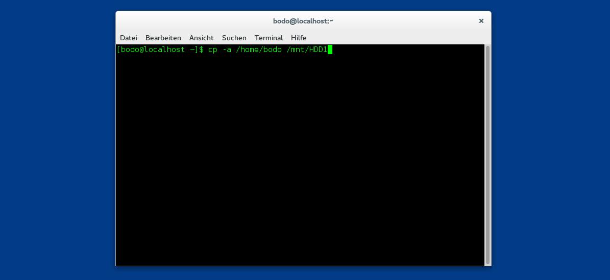 Einfache Datensicherung über die Linux-Kommandozeile