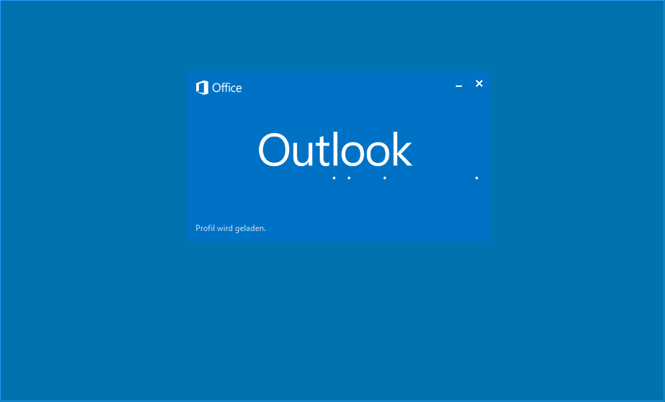 Outlook Startbild