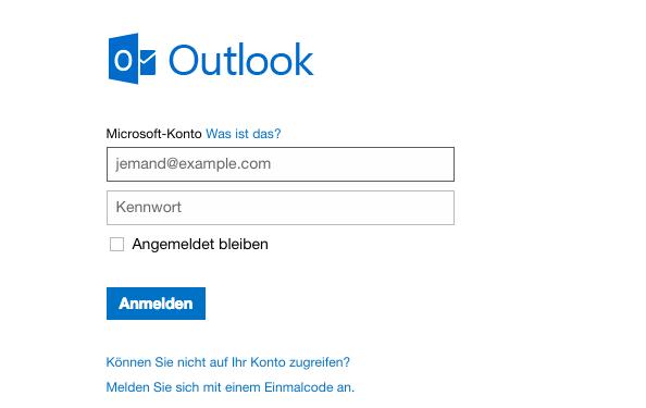 Outlook.com und OneDrive
