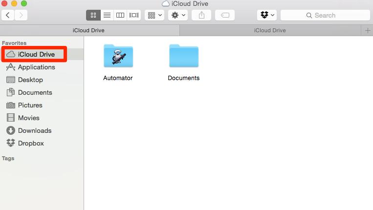 iCloud Drive im Finder