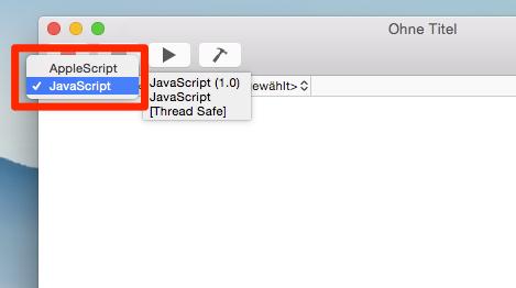 Sprache im ScriptEditor einstellen