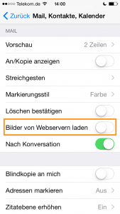 iOS-Email-Tracking deaktivieren