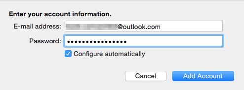 Email-Konto in Outlook hinzufügen