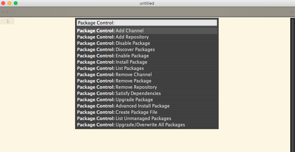Package Control von Sublime Text