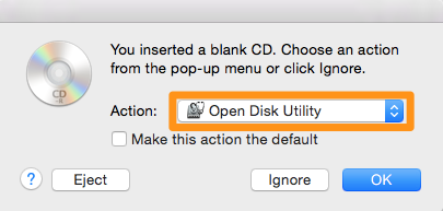 Open Disk Utility with Finder