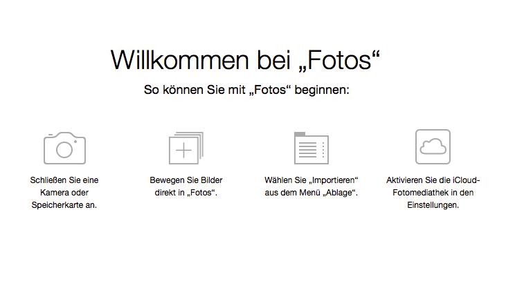 Bilder mit der Fotos-App importieren