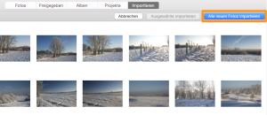 Bilder für den Import in Fotos auswählen