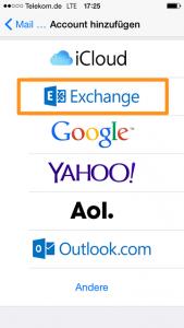 Exchange in iOS einrichten