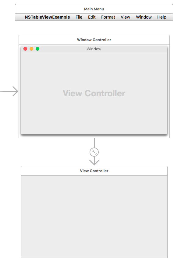 empty view controller in a storyboard