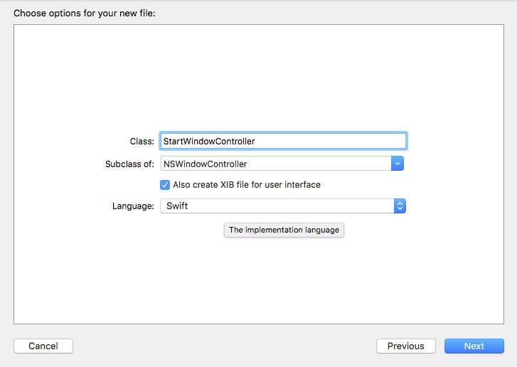 Create new NSWindowController