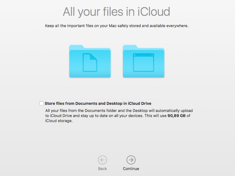 All your files in iCloud