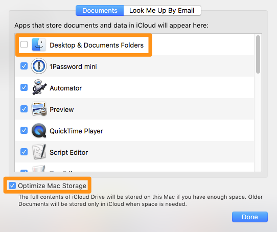 activate iCloud Drive sync