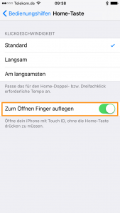 Bedienungshilfe zum iPhone-Home-Button
