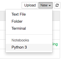 start new Jupyter notebook