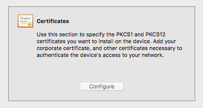 Apple Configurator Certificate View