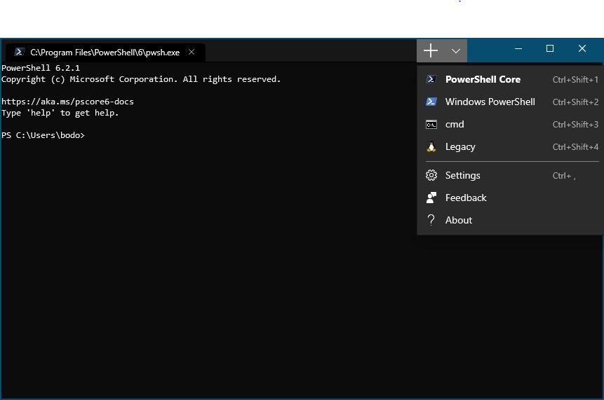 Eine Shell zum Windows-Terminal hinzufügen