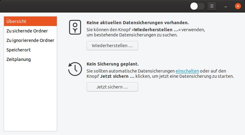 Datensicherung unter Ubuntu