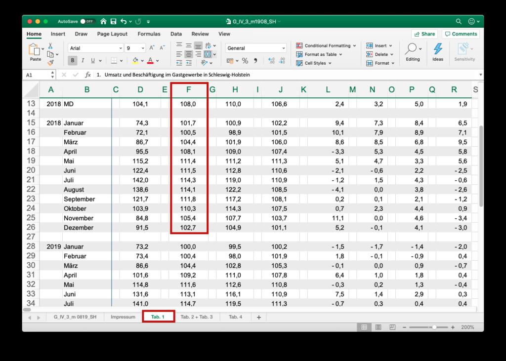 Excel-Beispiel