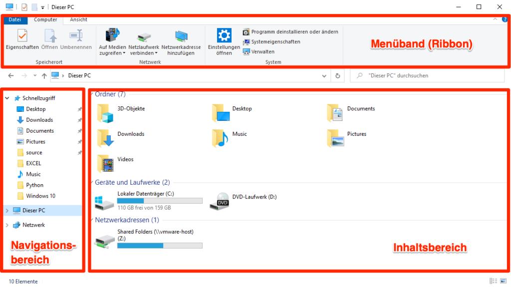 Windows 10 Explorer