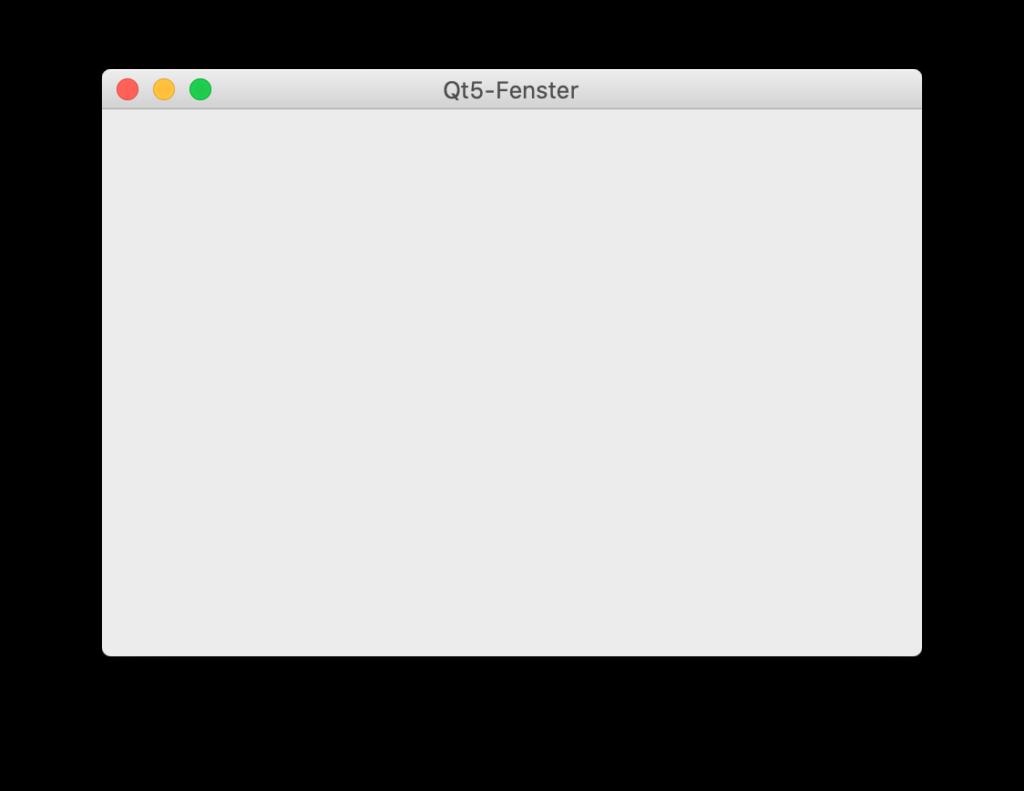 Qt5-Fenster unter macOS