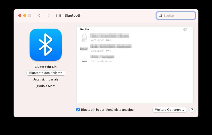 Bluetooth-Geräte unter macOS hinzufügen