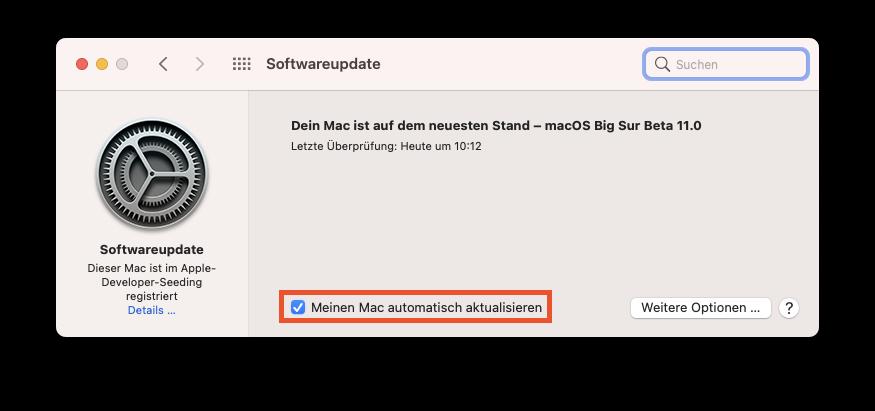 Automatische Software-Updates unter macOS aktivieren