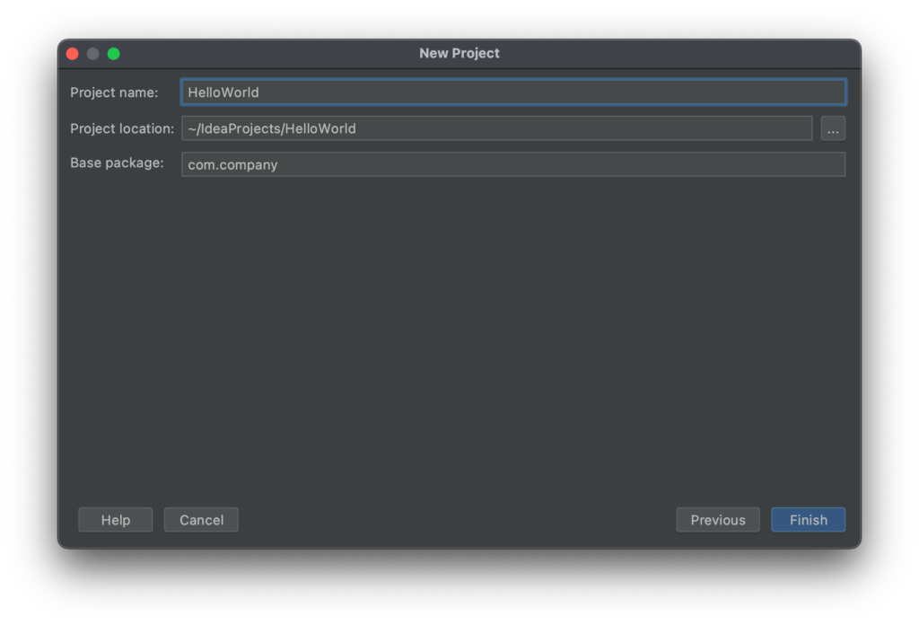 Create a Project with IntelliJ IDEA