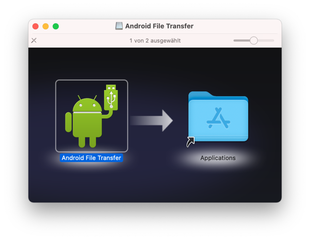 Android File Transfer unter macOS installieren