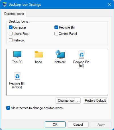 Windows 11 Desktop Icon Settings