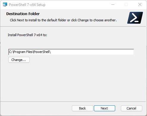 PowerShell Destination Folder (x64)