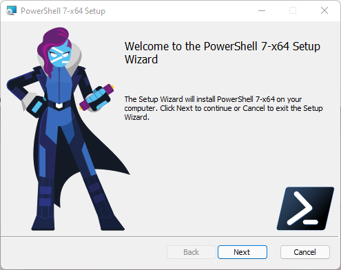 Welcome to the PowerShell Setup Wizard