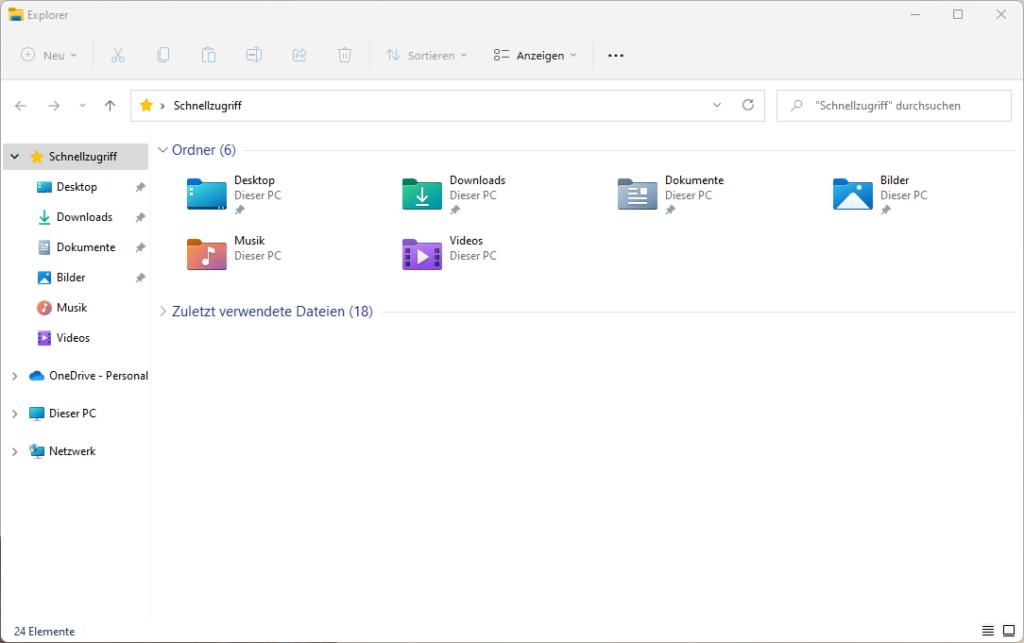 Der Datei-Explorer in Windows 11